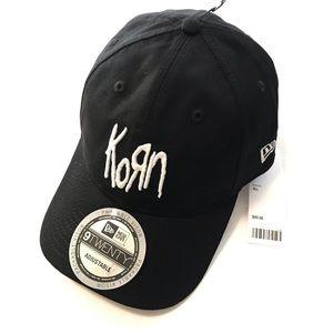 KORN x Pleasures Baseball Hat Black White NWT